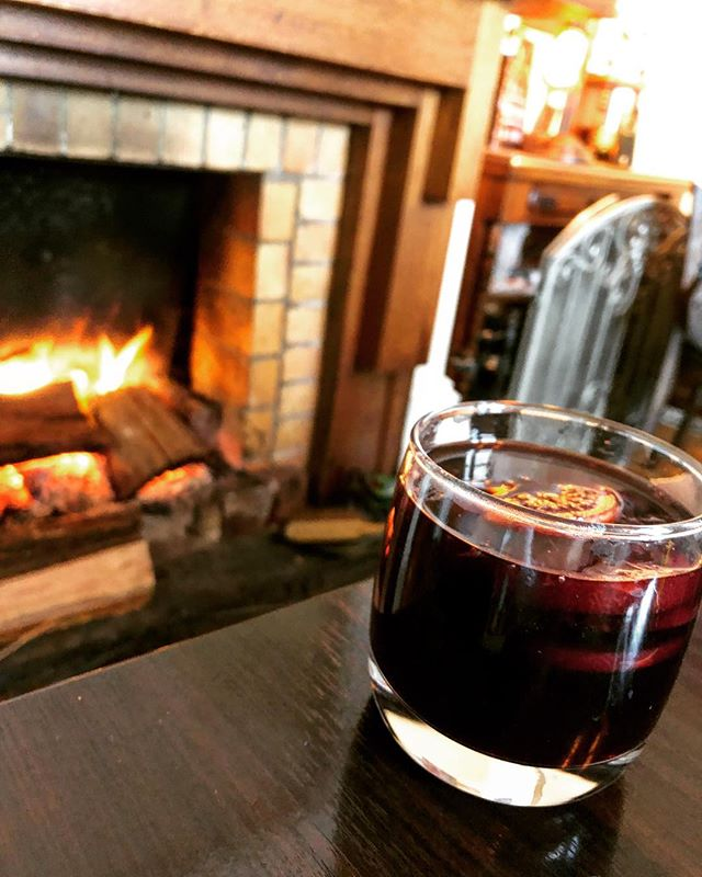Winters done right  Mulled wine hot and ready to warm y'all up! ..#wintersdoneright #mulledwine #meetyouattherox #warm #wholesomespices #gettingthroughwinter #winetime #homeiswherethewineis #thompsonstreet #openfire #babyitscoldoutside