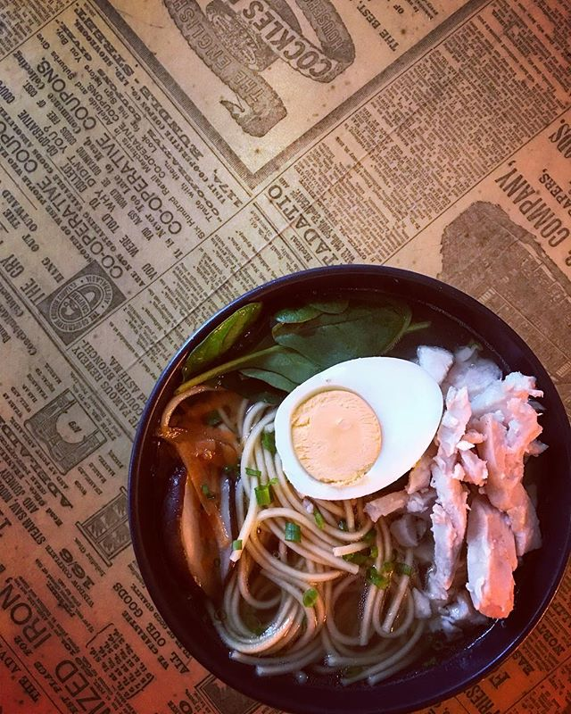 Chicken Ramen  hitting all the right spots on a day like today ...#chicken #ramen #nom #foodie #cold #winter #broth #colddays #wintervibes #getinmybelly #meetyouattherox #hamilton #cafevibes #instafood