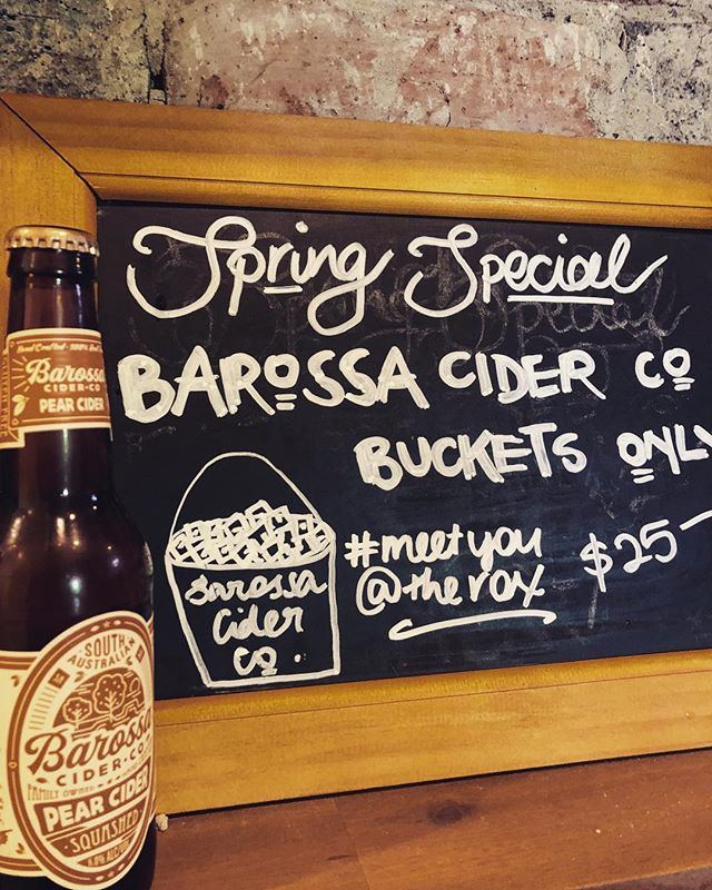 Tonight's special! P.S trading hours today are 8-1 then reopen at 5pm! ...#aflhours #trading #drinkspecial #saturday #barossacider #cider #springhassprung