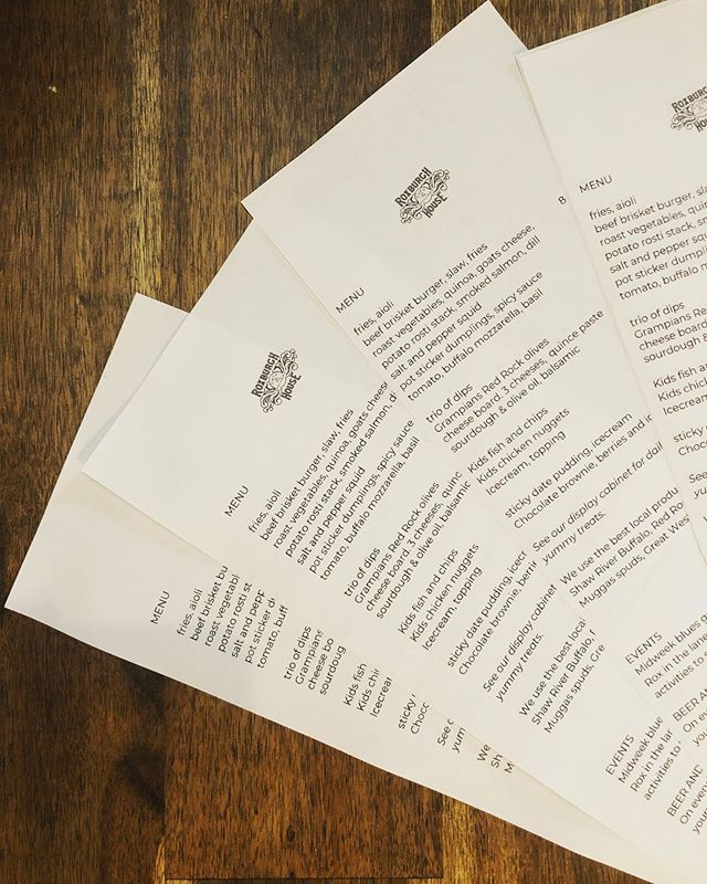Full new spring menu launching today!  .....#newmenu #spring #lunch #alldaybreakfast #roxburghhouse #foodie #localproduce #kidsmenuavailable #pizza #shawriverbuffalocheese #redrockolives