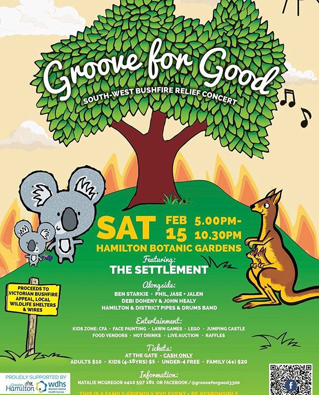 Good morning Folks! We have donated a $100 gift voucher for the raffle at the Groove For Good event this Saturday the 15th of February. It's at the Hamilton botanic gardens from 5-10:30pm, it's going to be a super fun evening with live music, food, activities and more! 🏻All of the proceeds are going to local CFA brigades, WIRES and local wildlife shelters! Hope to see you all there ️...#grooveforgood #bushfireappeal #raffle #cafe #caferacer #barista #baristadaily #monday